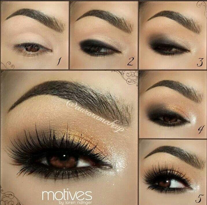 Gold party eye makeup tutorial | Beauty | Pinterest