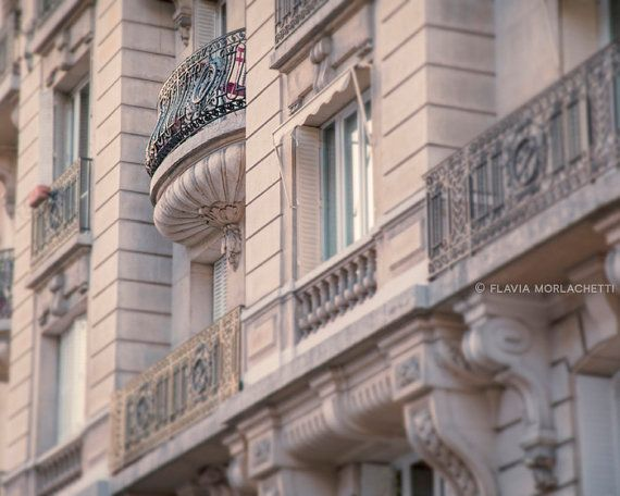 Soft pink french balcony Paris photography by FlaviaMorlachetti