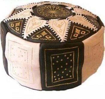 pouf en cuirpouf en cuir marocainpouf en cuir par JakaniCuir