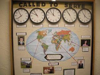 lds+missionary+bulletin+board+ideas | Missions bulletin board for church | VBS Ideas Sky 2012