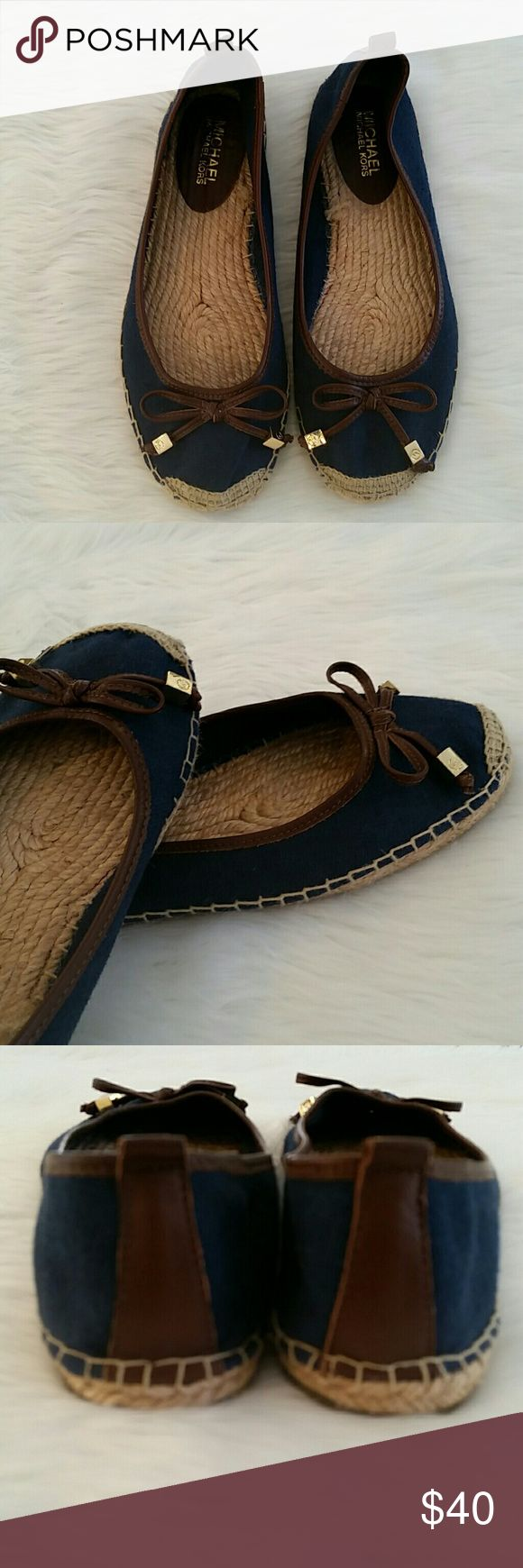 Michael Kors espadrilles Blue canvas Michael Kors espadrilles Great shoes for Spring Blue canvas with leather trim Leather tassels with Michael Kors logo boxes Only worn a couple times, in excellent condition. Size 8 Michael Kors Shoes Espadrilles