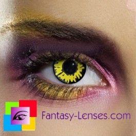 Farvede crazy kontaktlinser uden styrke Twilight Werewolf sjove farvede linser uden styrke med motiv LentillasContactoColor.com