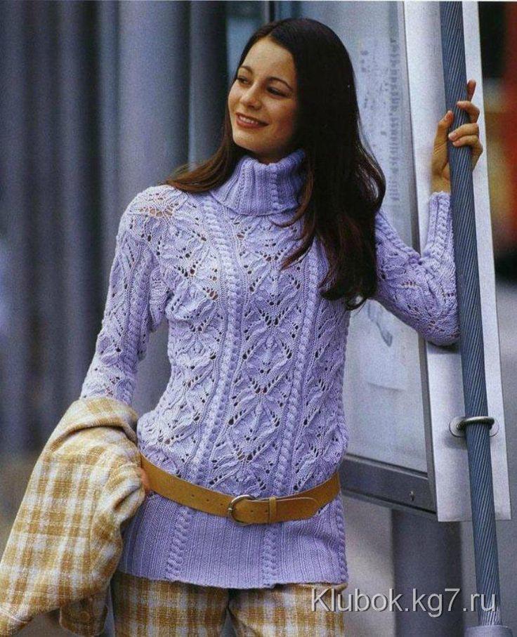 Нежный ажурный пуловер | Клубок