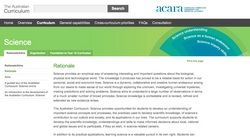 ACARA - the national primary science curriculum