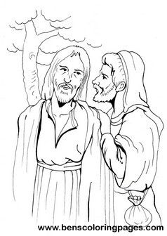 John 13 17 The Last Supper Kiss Of Judas Coloring Page