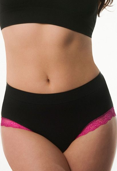 Full Brief Women's Contrast Lace Panties - Soft Touch