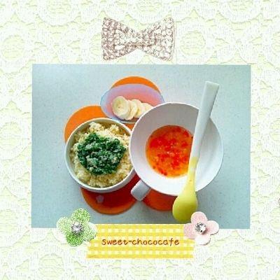 ある日のランチ*ほうれん草とツナのクリームパスタ*離乳食中期~ by ...