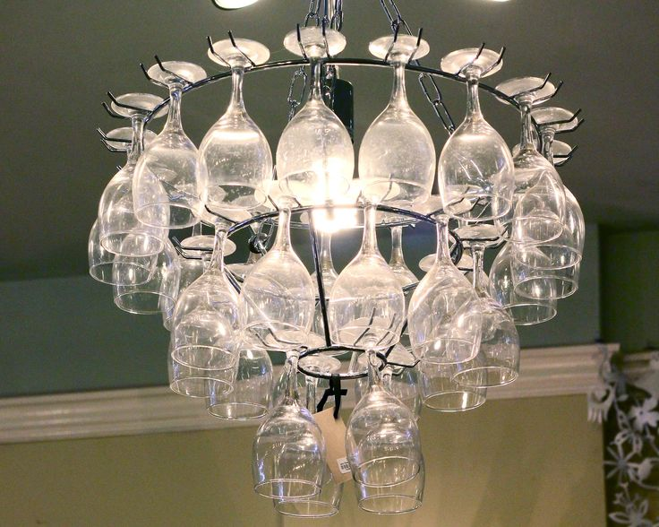How to make a wine glass rack chandelier woodworking for How to make your own wine bottle chandelier