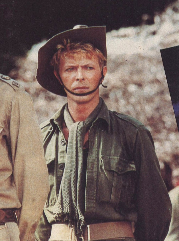 "David Bowie as Maj. Jack 'Strafer' Celliers in ""Merry Christmas, Mr. Lawrence"" 1983."