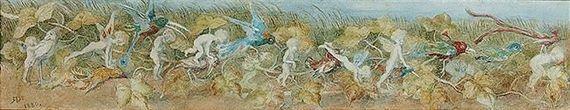 Artwork by Richard Doyle, fairy leapfrog