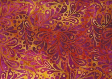 SBH - 036  col Orange Tango Leaf #burnt-orange #hotpink #magenta #orange #raspberry #safron #yellow