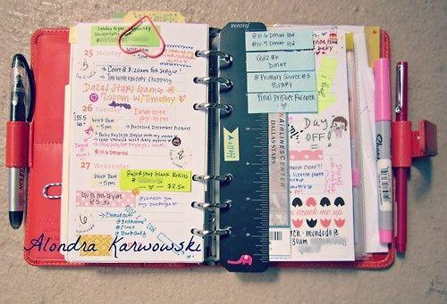 A garota sem qualidades: Organize sua agenda !!!
