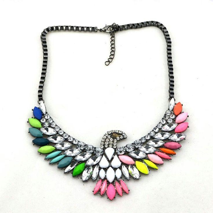 Neon bird necklace fashionpopboutique.com