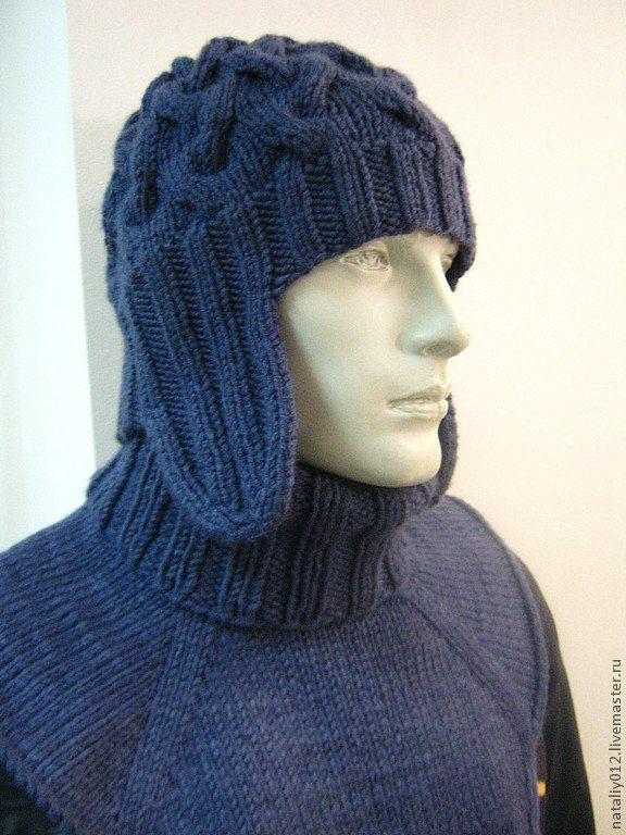 Мужская шапка спицами: схема шапки ушанки с фото и описанием работы
