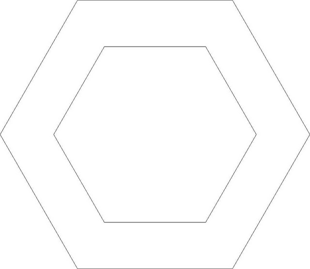 1000 images about patchwork templates on pinterest for Hexagon quilt template plastic