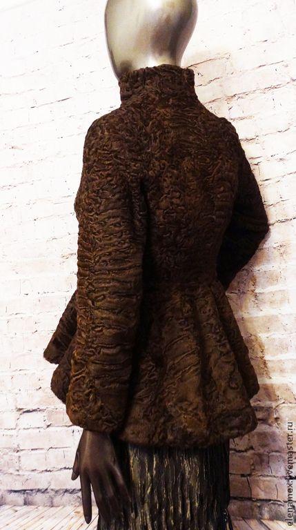 Купить Жакет из каракуля swakara - коричневый, каракуль, каракульча, каракуль swakara, furs, fashion