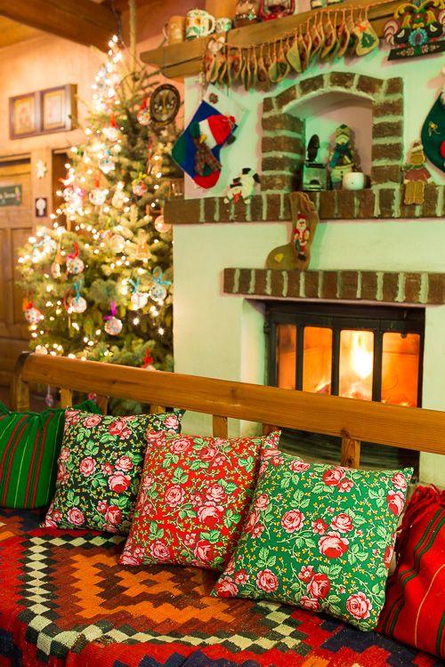 Poduszka dekoracyjna FOLK 38 - góralska czerwona