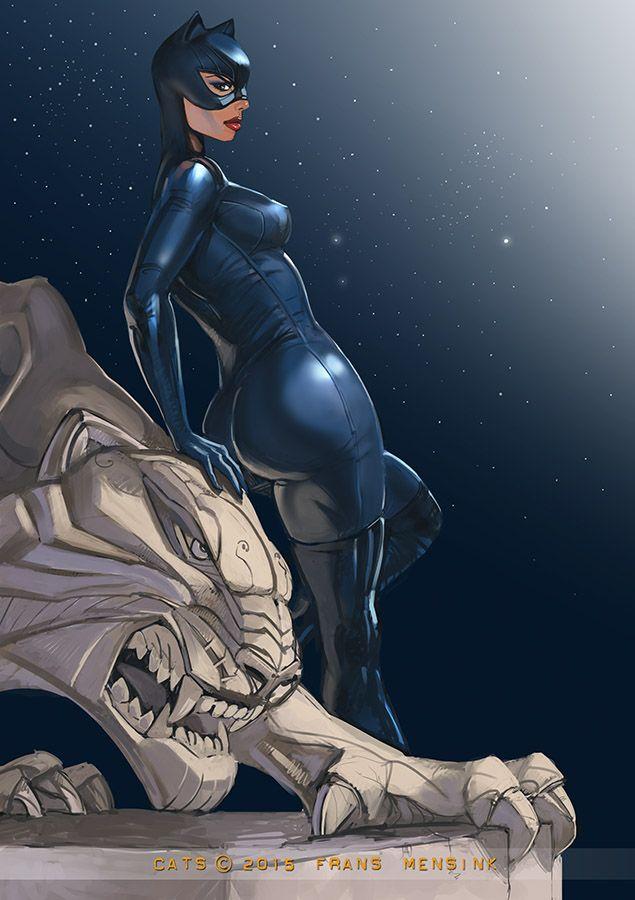 Catwoman once more by fransmensinkartist deviantart com on deviantart