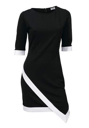 Shirtjurk dress black white rick cardona new york by heine