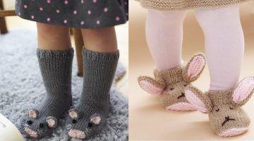 Haak of brei nu de schattigste baby en kleutersokjes voor de koude dagen zelf… 7 super ideetjes MET PATRONEN!