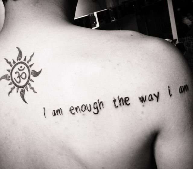 I Am Good Enough Tattoo 17 Best images about T...
