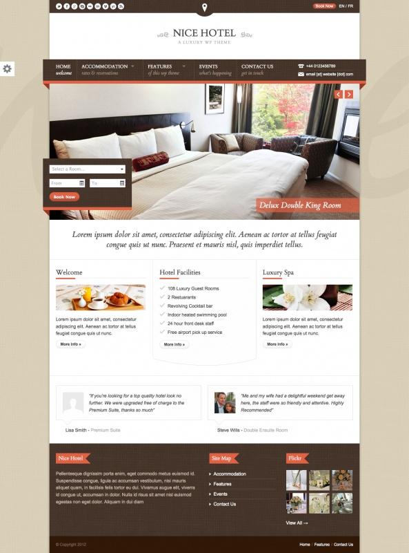 Nice Hotel Luxury - template WordPress