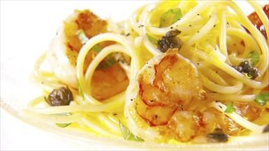 Giada De Lautentiis: Lemon Spaghetti with Jumbo Shrimp