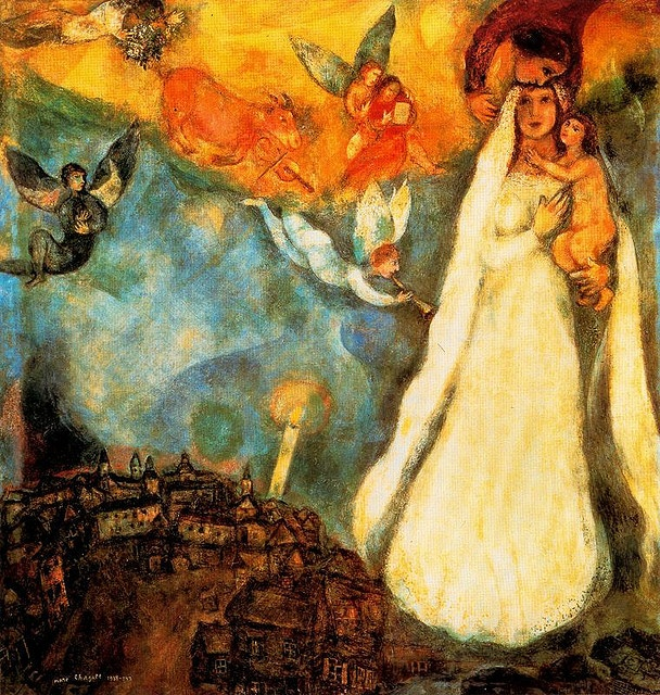 in honor of her assumption. mary our mother.  marc chagall.