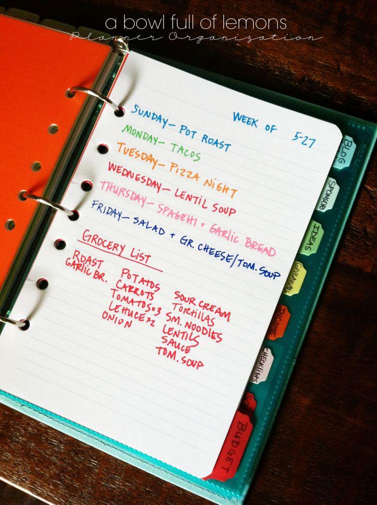 Planner organization |