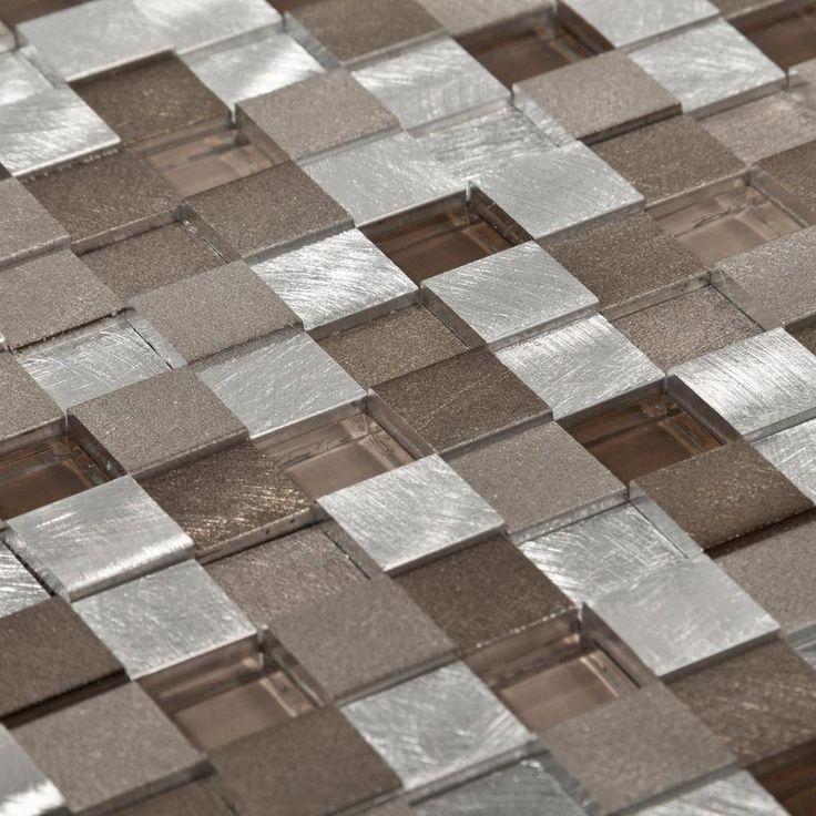 Niches metallico earth metal and glass mosaic 12in x for Floor decor reno