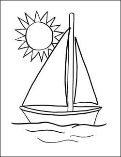 sailboat coloring pages - Google Search