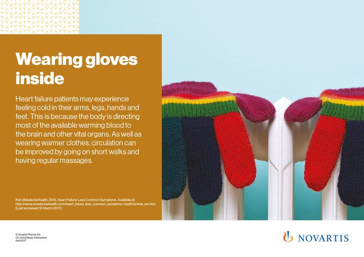 An unexpected sign of heart failure: Wearing gloves inside