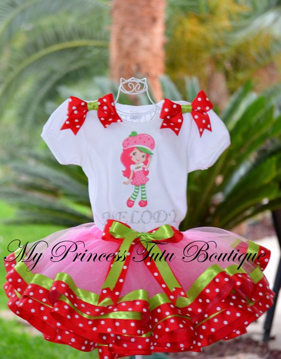 Hey, I found this really awesome Etsy listing at https://www.etsy.com/listing/278747298/strawberry-shortcake-ribbon-tutu