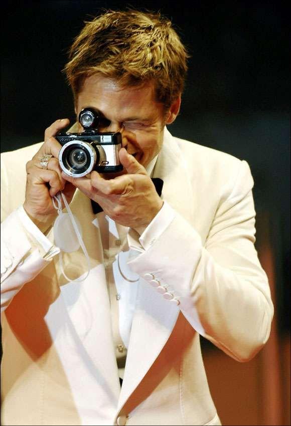 Brad Pitt with a Lomo Camera.