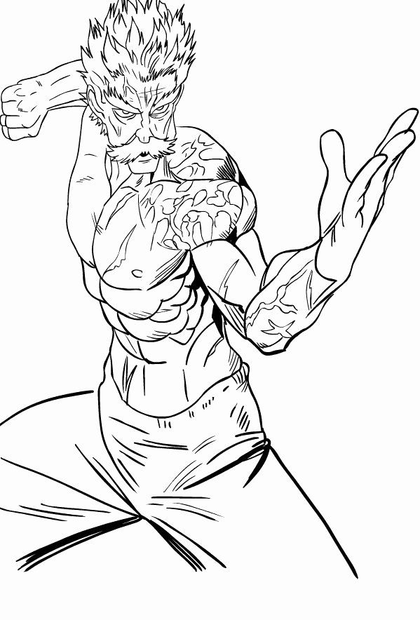 One Punch Man Anime Coloring Pages Printable Popular E Punch Man Coloring Page One Punch Man Anime One Punch Man Coloring Pages