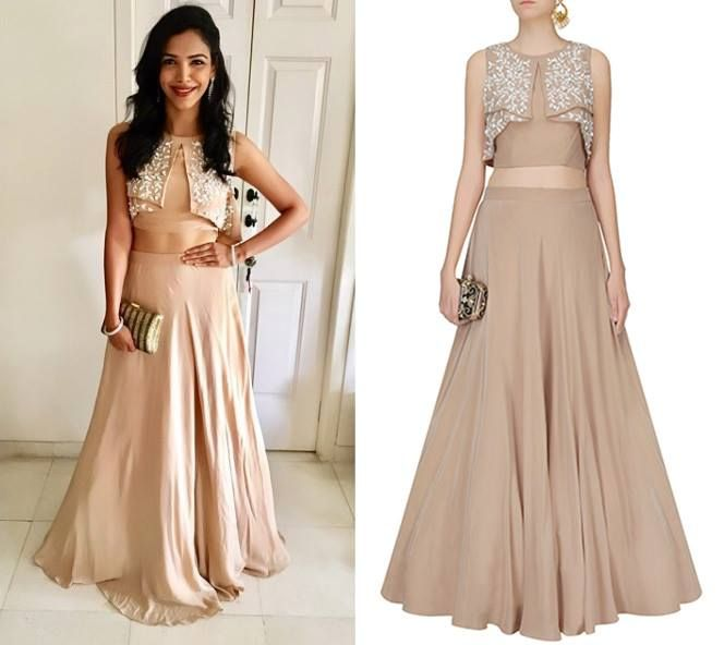 Shriya Pilgaonkar - Official in Ohaila Khan's Beige And Ivory Sequins Cutwork Flower Petals Serfiana Lehenga Set #ohailakhan #shriyapilgaonkar #getthelook #celebcloset #celebstyle #contemporarywear #indianfashion #Indiandesigners #shopnow #perniaspopupshop #happyshopping
