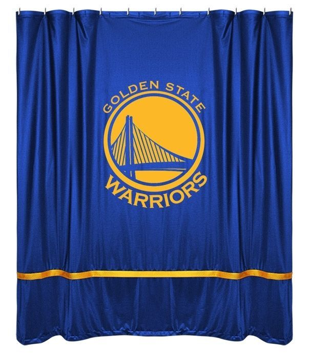 Golden State Warriors NBA Sports Coverage Team Color Shower Curtain Sidelines  #SportsCoverage
