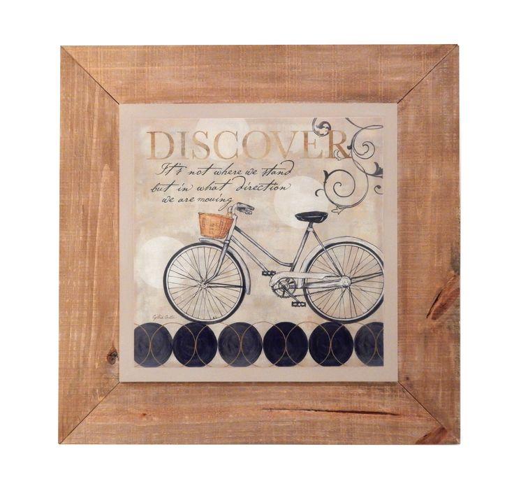 cuadro shabby chic de bicicleta