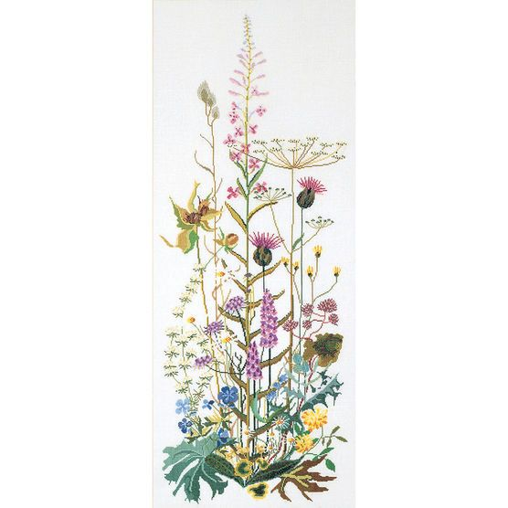 Thea Gouverneur counted-cross-stitch Kit Wild Flower On Aida