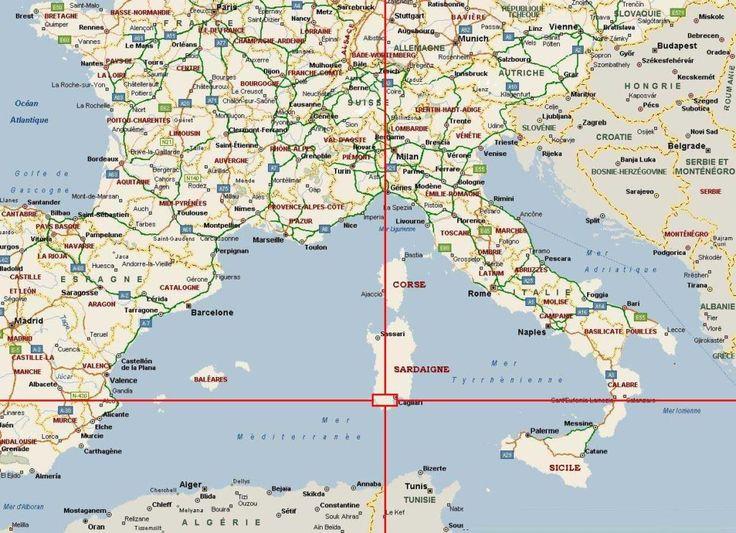 Carte France-Italie
