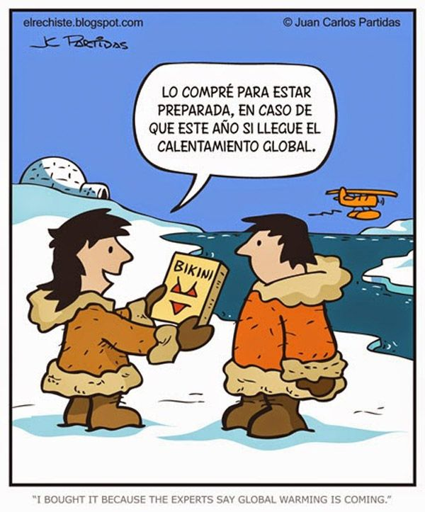 Global warming joke in Spanish #learning #spanish #kids