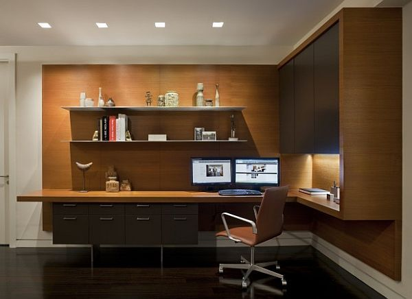 Modern Office Desks for Home | practical cool desk design for contemporary home office
