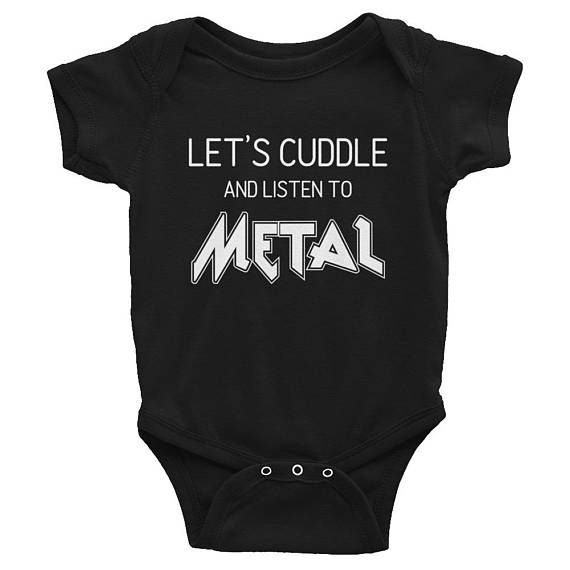 Lets cuddle and listen to metal, metal baby, heavy metal baby, metal head baby, Baby Onesie, Goth Baby Clothes, Goth Baby, Gothic Baby Clothes, Gothic Baby, Black Baby Clothes, Goth Mom, Gothic Mom, Rockabilly Mom, Alt Mom, Alternative Mom, Punk Mom, Punk Baby, Rockabilly Baby, Alternative Baby, Rock Baby, Witch Baby, Ghost Baby,  Baby Romper, Black Bodysuit, Black Onesie, Clothing, Unisex Baby Clothes, Halloween, Baby Shower Gift, New Baby Gift, Push Present, First Birthday Gift, Pregnancy…
