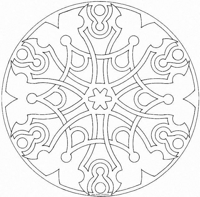 46 best mandalas images on Pinterest | Mandala para colorear ...