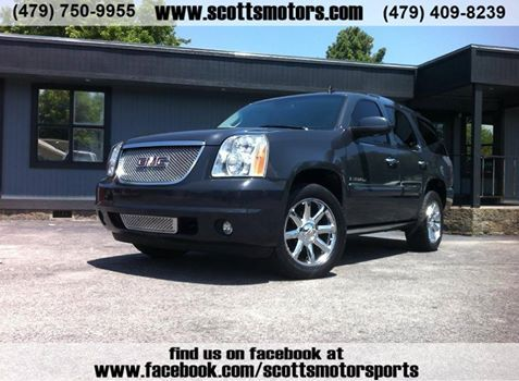 2008 AWD Yukon Denali a big, comfortable luxury SUV.  all-wheel drive,This Denali certainly has all the creature comforts the most pampered soccer mom would ever need:  And, of course, with many safety features too! Don't wait or this one will be gone! call us Now... 479-750-9955 or 479 409-8239