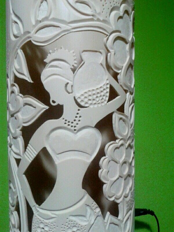 Luminária de PVC,Africana