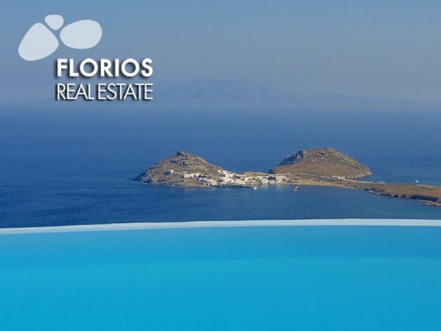 The stunning views take center stage in this villa which is situated near the top of the hill at an altitude of 100m. FL1041 Villa for Sale on Mykonos island Greece. http://www.florios.gr/en/Villas-For-Sale-Mykonos-Island-Greece.html