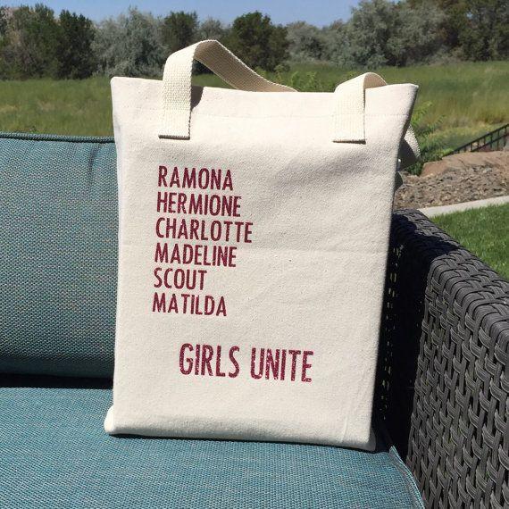 Perfect gift for a book lover! Girl Book Characters-Girls Unite-Book Tote-American by SwellStated