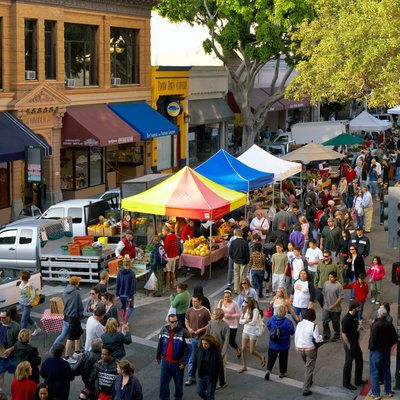 San Luis Obispo: Smile A recent book named this university town one of the happiest places on Earth. One source of local joy is SLO's Thursday Night Downtown Farmers' Market, maybe the best in the nation.