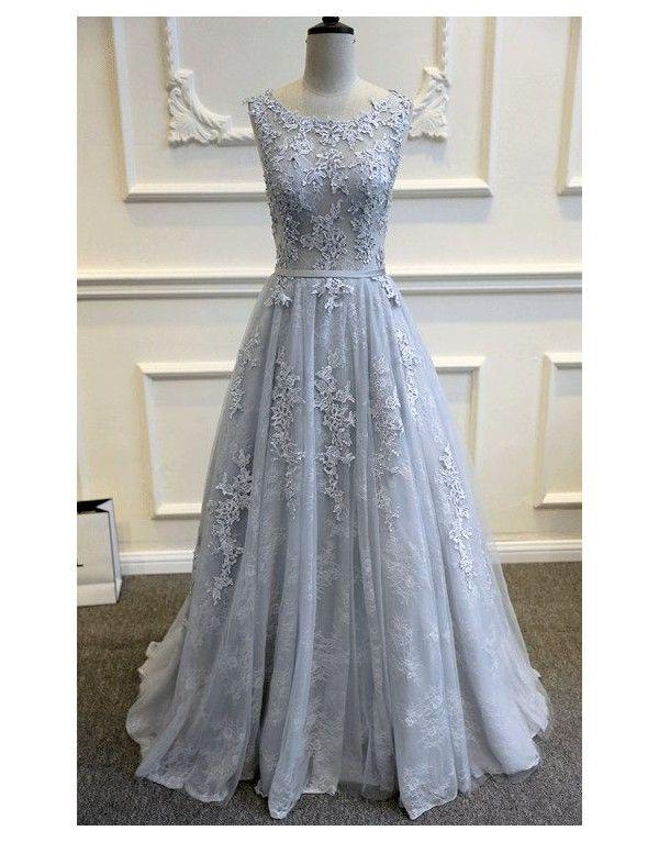 šedé plesové šaty na maturitní ples Lace XS - Hollywood Style E-Shop